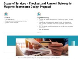 Scope Of Services Checkout And Payment Gateway For Magento Ecommerce Design Proposal Ppt Picture