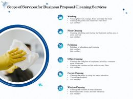 Scope Of Services For Business Proposal Cleaning Services Ppt Templates