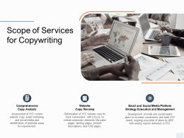 Scope Of Services For Copywriting Ppt Powerpoint Presentation Infographics