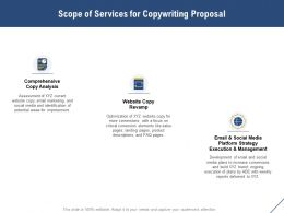 Scope Of Services For Copywriting Proposal Ppt Powerpoint Presentation Ideas