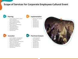 Scope Of Services For Corporate Employees Cultural Event Ppt Powerpoint Presentation Slide