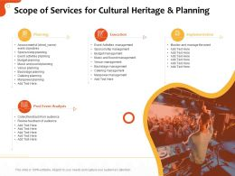 Scope Of Services For Cultural Heritage And Planning Ppt Template