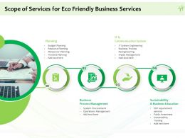Scope Of Services For Eco Friendly Business Services Ppt Powerpoint Presentation Gallery Master