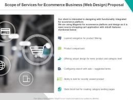 Scope Of Services For Ecommerce Business Web Design Proposal Ppt Powerpoint Presentation Inspiration Portfolio