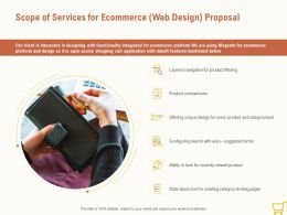 Scope Of Services For Ecommerce Web Design Proposal Ppt Powerpoint Background