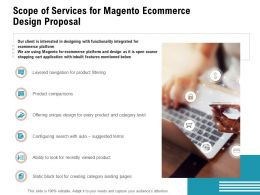 Scope Of Services For Magento Ecommerce Design Proposal Ppt Powerpoint Presentation Examples