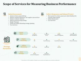 Scope Of Services For Measuring Business Performance Strategy Ppt File Brochure