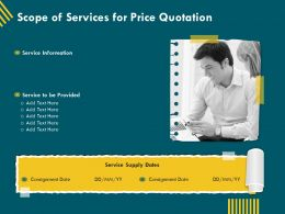 Scope Of Services For Price Quotation Ppt Inspiration