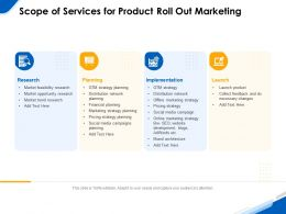Scope Of Services For Product Roll Out Marketing Ppt Powerpoint Model