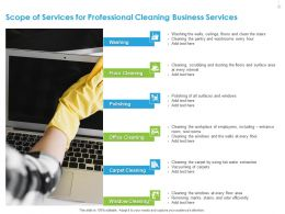 Scope Of Services For Professional Cleaning Business Services Ppt Example File