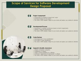 Scope Of Services For Software Development Design Proposal Ppt Icon