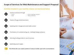 Scope Of Services For Web Maintenance And Support Proposal Ppt Powerpoint Presentation Gallery