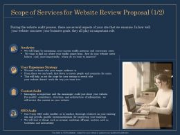 Scope Of Services For Website Review Proposal Analytics Ppt File Aids