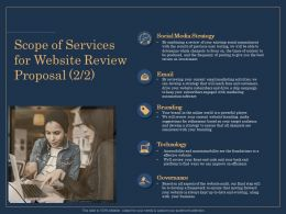 Scope Of Services For Website Review Proposal Strategy Ppt Gallery