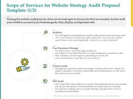 Scope Of Services For Website Strategy Audit Proposal Template L1528 Ppt File Portfolio