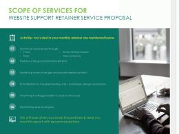Scope Of Services For Website Support Retainer Service Proposal Ppt File