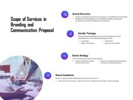 Scope Of Services In Branding And Communication Proposal Ppt Slides Portfolio