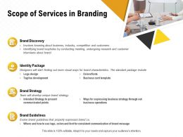 Scope Of Services In Branding Ppt Powerpoint Presentation Model Clipart Images