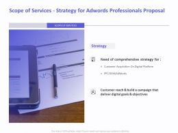 Scope Of Services Strategy For AdWords Professionals Proposal Ppt File Slides