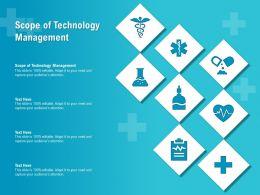 Scope Of Technology Management Ppt Powerpoint Presentation Portfolio Example
