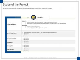 Scope Of The Project Engagement Management Ppt Sample