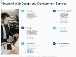 Scope Of Web Design And Development Services Ppt Powerpoint Presentation Background Image