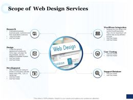 Scope Of Web Design Services Ppt Powerpoint Presentation Summary Portrait