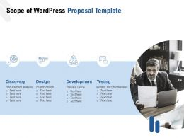 Scope Of WordPress Proposal Template Ppt Powerpoint Presentation Slides Introduction