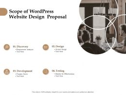 Scope Of Wordpress Website Design Proposal Ppt Powerpoint Slides