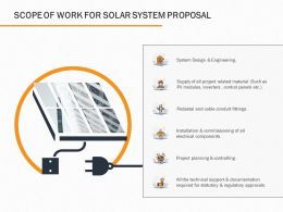 Scope Of Work For Solar System Proposal Ppt Powerpoint Presentation Infographics Example