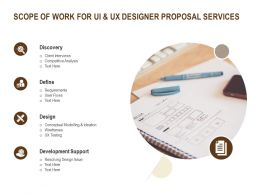 Scope Of Work For UI And UX Designer Proposal Services Ppt Powerpoint Presentation Layouts Format