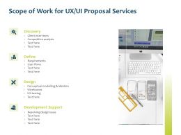 Scope Of Work For UX UI Proposal Services Ppt Powerpoint Presentation Slides