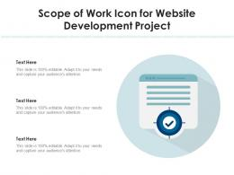 Scope Of Work Icon For Website Development Project