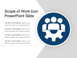 Scope Of Work Icon Powerpoint Slide