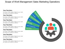 Scope Of Work Management Sales Marketing Operations