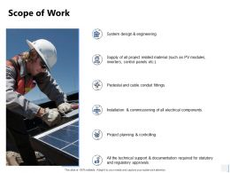 Scope Of Work Planning Ppt Powerpoint Presentation Gallery Backgrounds