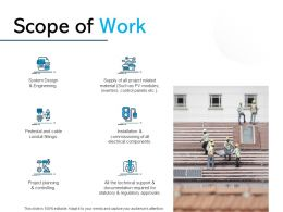 Scope Of Work Ppt Powerpoint Presentation Gallery Slides
