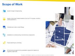 Scope Of Work Ppt Powerpoint Presentation Layouts Format Ideas