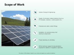 Scope Of Work Ppt Powerpoint Presentation Outline Vector