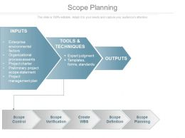 Scope Planning Powerpoint Presentation Examples