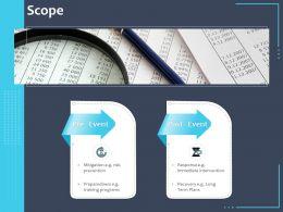 Scope Preparedness Term Plans Ppt Powerpoint Presentation Designs Download