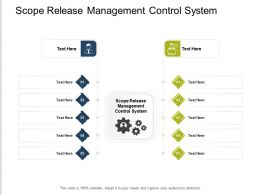 Scope Release Management Control System Ppt Powerpoint Presentation Layouts Icons Cpb