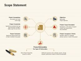 Scope Statement Acceptance Criteria Ppt Powerpoint Presentation Infographics