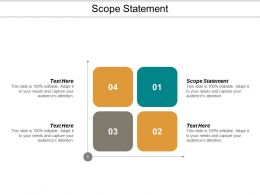 Scope Statement Ppt Powerpoint Presentation Model Graphics Pictures Cpb