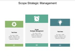 Scope Strategic Management Ppt Powerpoint Presentation Infographic Template Information Cpb