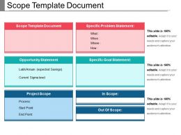 Scope Template Document Powerpoint Templates