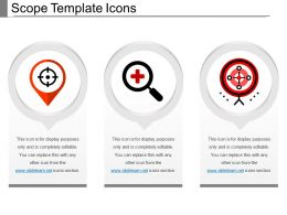 Scope Template Icons PowerPoint Slide Background