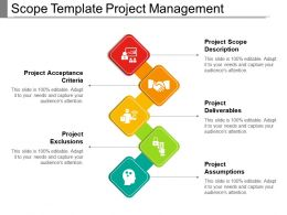 Scope Template Project Management Powerpoint Slide Template