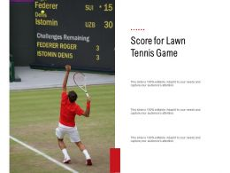 Score For Lawn Tennis Game