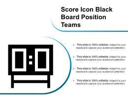 Score Icon Black Board Position Teams